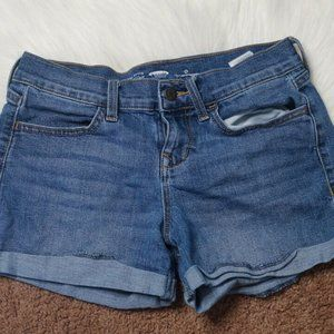 Old Navy Custom Painted Denim Jean Shorts
